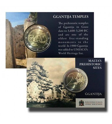 2016 MALTA GGANTIJA COIN CARD - 2 EURO COMMEMORATIVE COIN