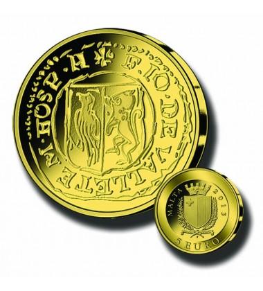 2013 MALTA - 5 EURO PICCIOLO COMMEMORATIVE GOLD COIN PROOF GOLD