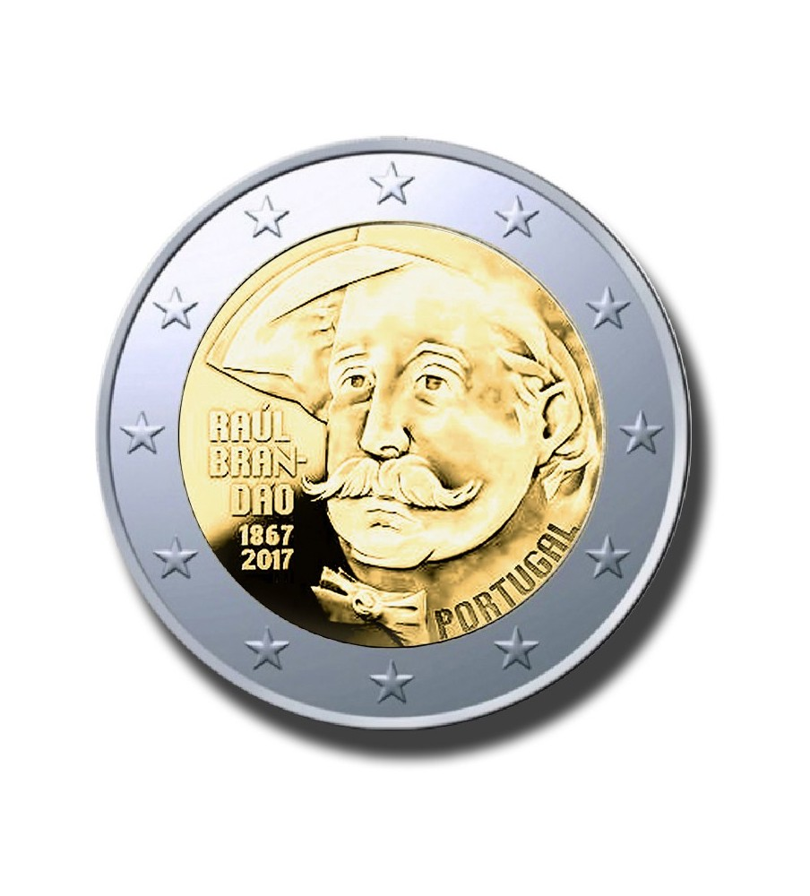 2017 Portugal Raul brandau 2 Euro Commemorative Euro Coin