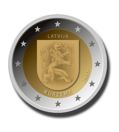 2017 Latvia Kurzeme 2 Euro Commemorative Euro Coin