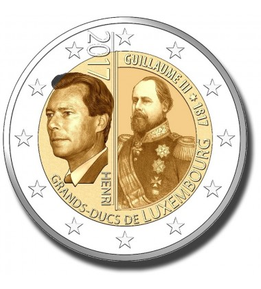 2017 Luxembourg 50 Years Of Voluntary Military Service 2 Euro Commemorative Coin