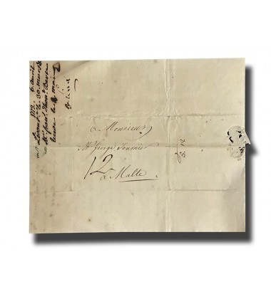 1818 Letter Signed By Count Lord Lieutenant Baldassare Sant With An Open Invitation To His House