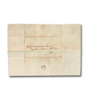 1841 Malta Entire Internal Letter From Malta To Monte Di Pieta Gozo Rare