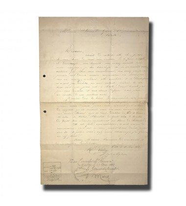 1882 Malta France Consular Mail RARE