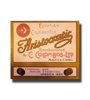 Aristocratic C. Colombos Ltd. Malta & Cairo Egyptian Cigarettes 71 x 45 x 15mm