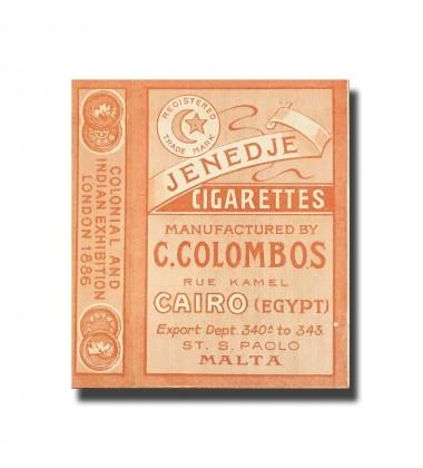 Cleopatra C. Colombos Ltd. Cairo Jenedje Cigarettes, Cairo 65 x 45 x 13mm