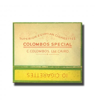 Colombus Special C. Colombos Ltd. Cairo Superior Egyptian Cigarettes 70 x 46 x 16mm