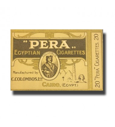 Pera C. Colombos Ltd. Cairo Egyptian Cigarettes 89 x 71 x 17mm (20 Cigarettes)
