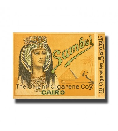 Sambul The Orient Cigarette Coy. Cairo  89 x 70 x 10mm (10 Cigarettes)