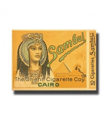 Sambul The Orient Cigarette Coy. Cairo  89 x 70 x 10mm (10 Cigarettes)