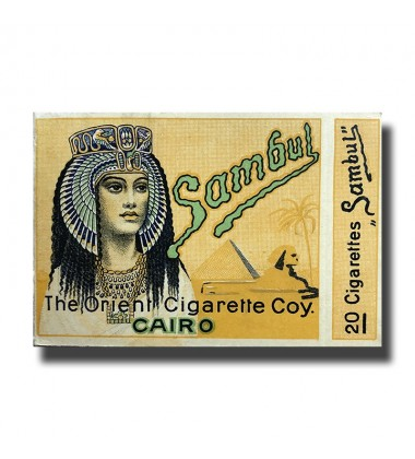 Sambul The Orient Cigarette Coy. Cairo  87 x 70 x 17mm (20 Cigarettes)