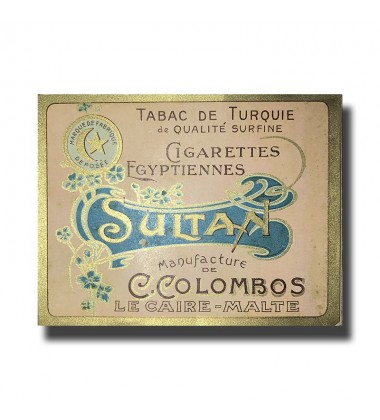 Sultan C. Colombos Ltd. Malta & Cairo Egyptian Cigarettes 97 x 77 x 17mm
