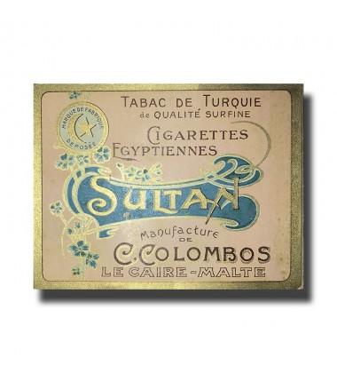 Sultan C. Colombos Ltd. Malta & Cairo Egyptian Cigarettes 97 x 77 x 17mm