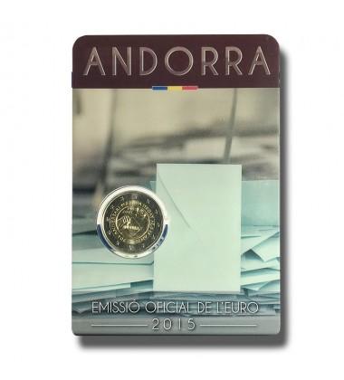 2015 Andorra Political Rights 2 Euro Commemorative Coin