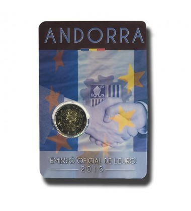2015 Andorra 25 Years of Customs Agreement 2 Euro Commemorative Coin
