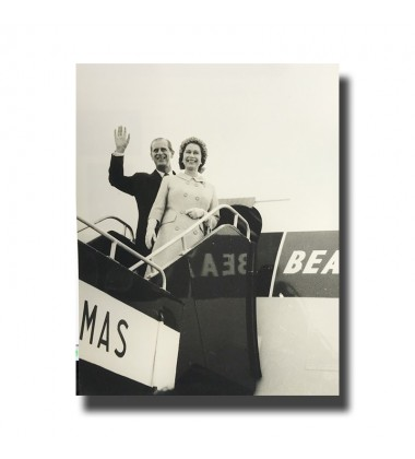 1950's ca Malta Photograph BEA Flight Queen Elizabeth II and Duke of Edinburgh