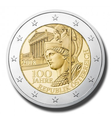 2018 Austria 100Th Ann Of The Austrian Republic 2 Euro Commemorative Coin