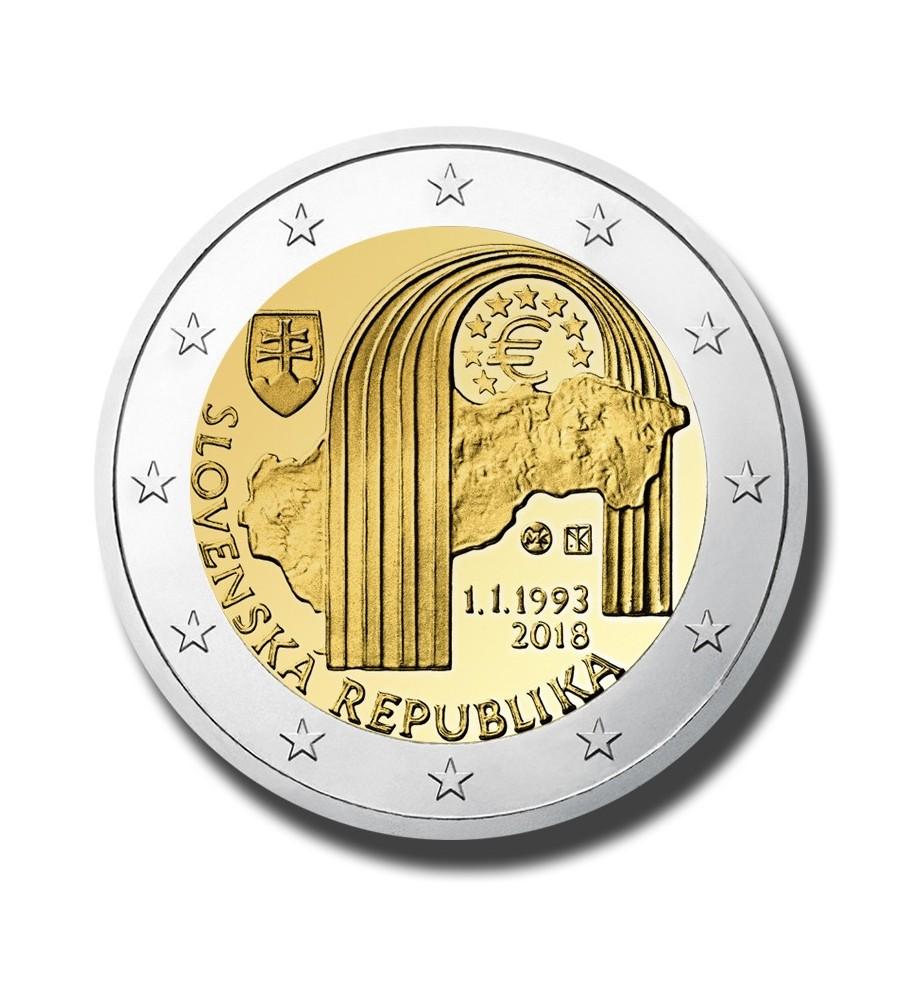 2018 Slovakia 25Th Anniversary Of The Replublic 2 Euro Commemorative Coin