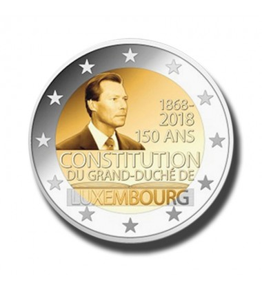2018 Luxembourg 150 Years Of The Constitution 2 Euro Commemorative Coin