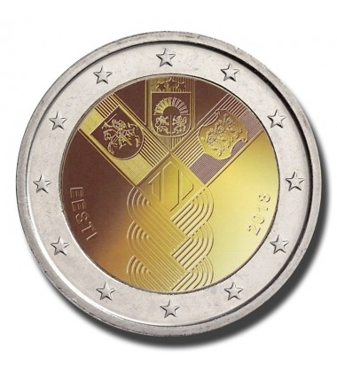 2018 Estonia 100 Years of the Baltic States 2 Euro Commemorative Coin