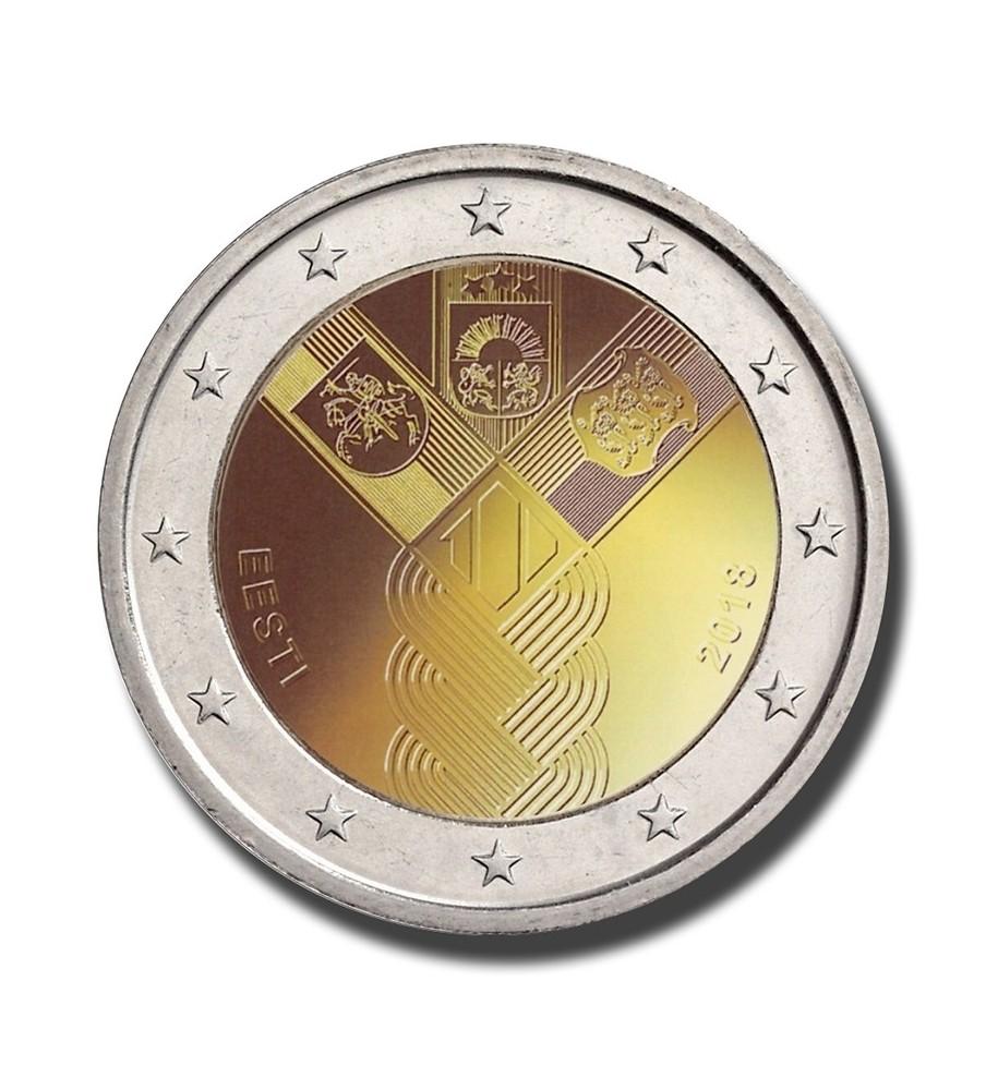 2018 Estonia 100 Years of the Baltic States 2 Euro Commemorative Coin