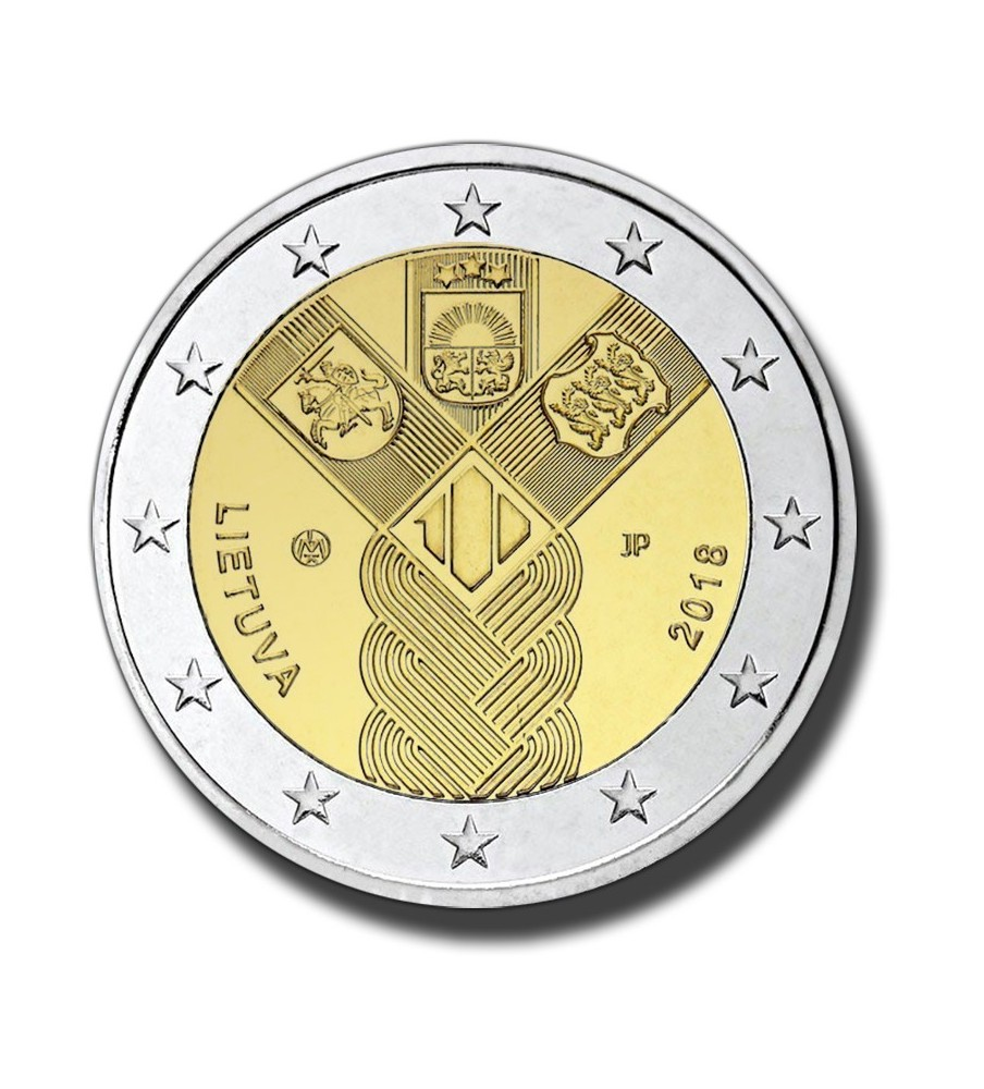 2018 Lithuania 100 Years of the Baltic States 2 Euro Commemorative Coin
