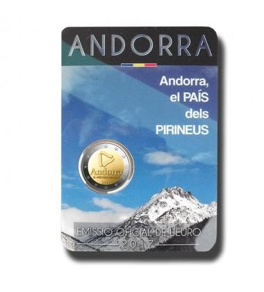 2017 Andorra Pyrenees Coin Card