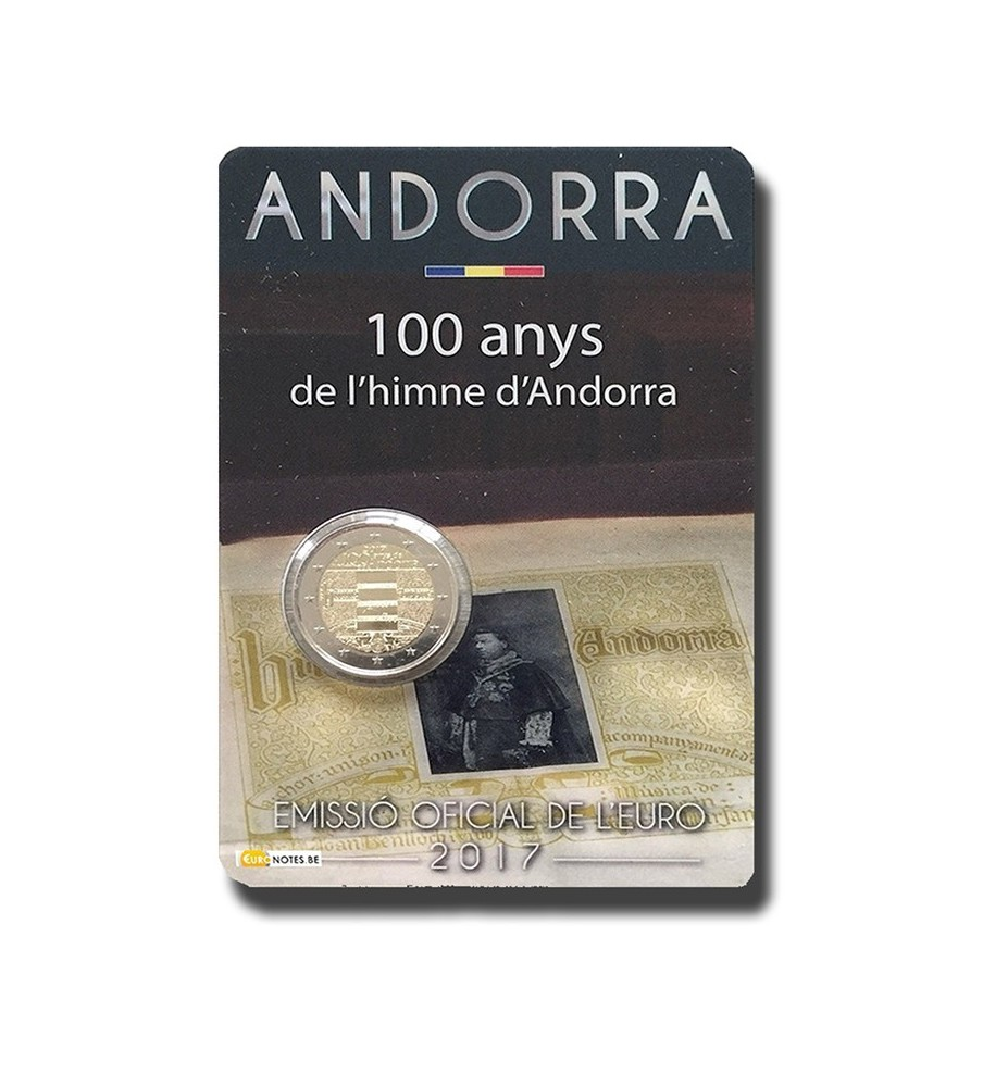 2017 Andorra 'Hymn' 100 Years of the National Anthem  Coin Card