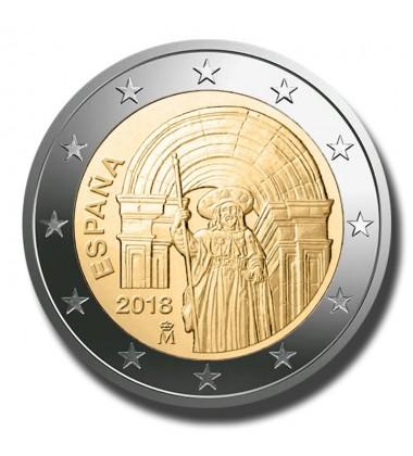 2018 Spain Santiago De Compostela 2 Euro Commemorative Coin