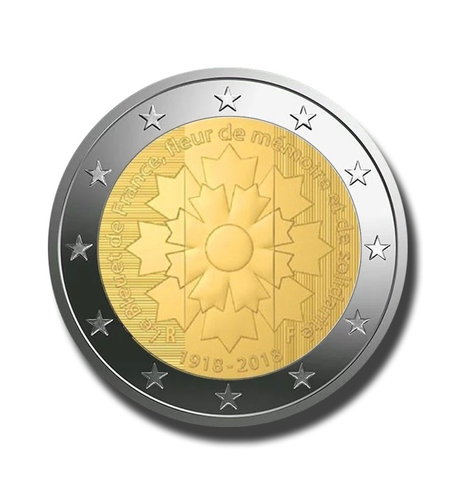 2018 France The Great War - The Cornflower 2 Euro Commemorative Coin