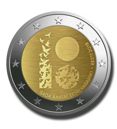 2018 Estonia 100 Years Estonian Independence 2 Euro Commemorative Coin