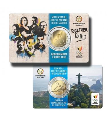 2016 Belgium Rio Olympics Coin Card