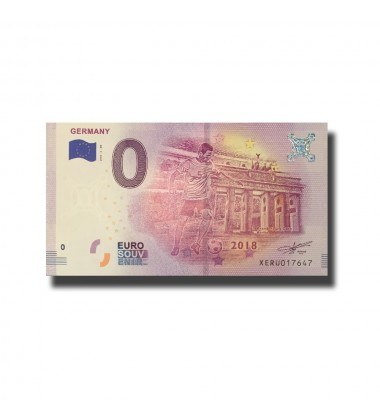 WORLD CUP 2018 GERMANY 0 EURO BANKNOTE