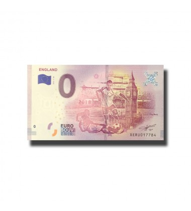 WORLD CUP 2018 ENGLAND 0 EURO BANKNOTE