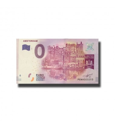 Netherlands Amsterdam 0 Euro Banknote Uncirculated 004535