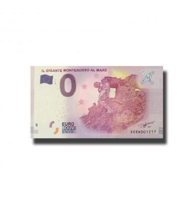 Italy Il Gigante Monterosso Al Mare 0 Euro Banknote Uncirculated 004542