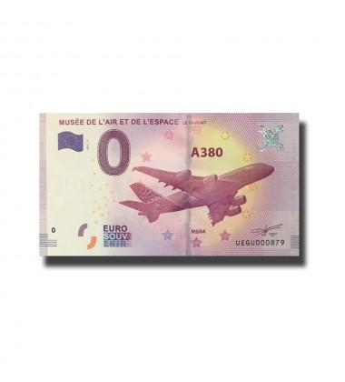 France Musee De L`Art Et De L`Espace 0 Euro Banknote Uncirculated 004579