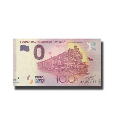 Finland Suomen Rautatiemuseo Hyvinkaa 0 Euro Banknote Uncirculated 004587