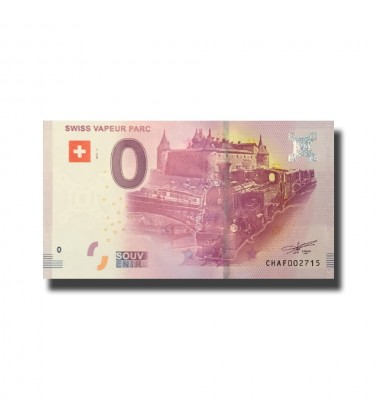 Switzerland Swiss Vapeur Parc 0 Euro Banknote Uncirculated 004588