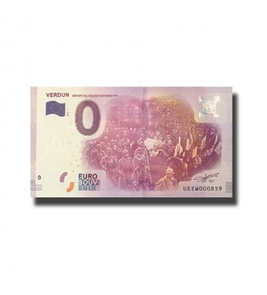 France Verdun  0 Euro Banknote Uncirculated 004590