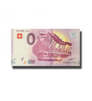 Witzerland Villars 0 Euro Banknote Uncirculated 004591