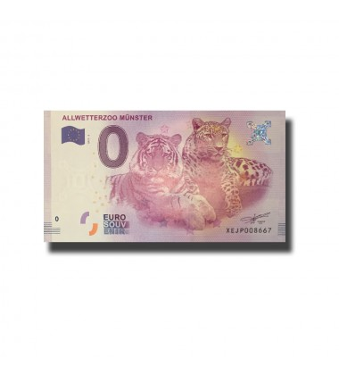 Germany Allwetterzoo Munster Tigers 0 Euro Banknote Uncirculated 004661