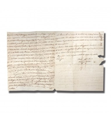1837 Marseille France To Malta Entire Letter 5D Arrival Charge Mark