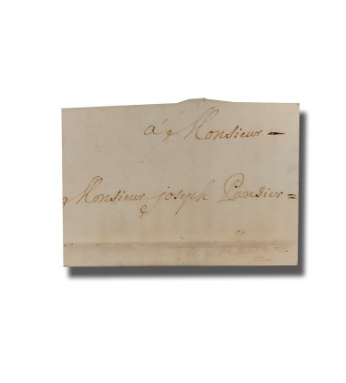 1715 Malta Entire Letter Sent From Messina Sicily Postal History