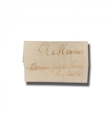 1715 Malta Entire Letter Sent From Messina Sicily Postal History