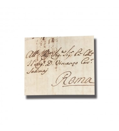 1804 Malta Entire Letter Sent To Roma Italy Postal History No STAMP