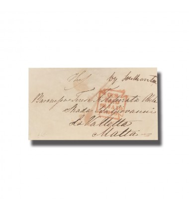 1846 UK To Malta Entire Letter Internal Charge Mark CCS Paid 19 JAN 1919