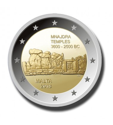 2018 Malta Mnajdra Temple 2 Euro Single Coin