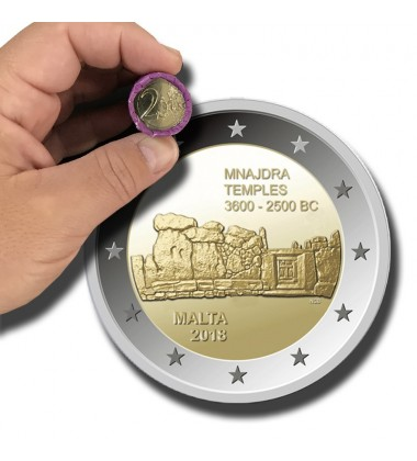 2018 Malta Mnajdra Temple Coin Roll of 25 Coins