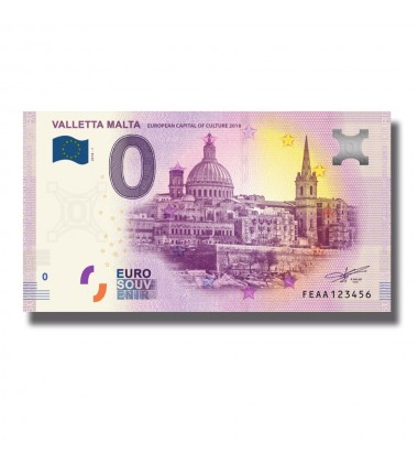 Malta 2018 Valletta European City Of Culture 0 Euro Banknote Uncirculated 004810